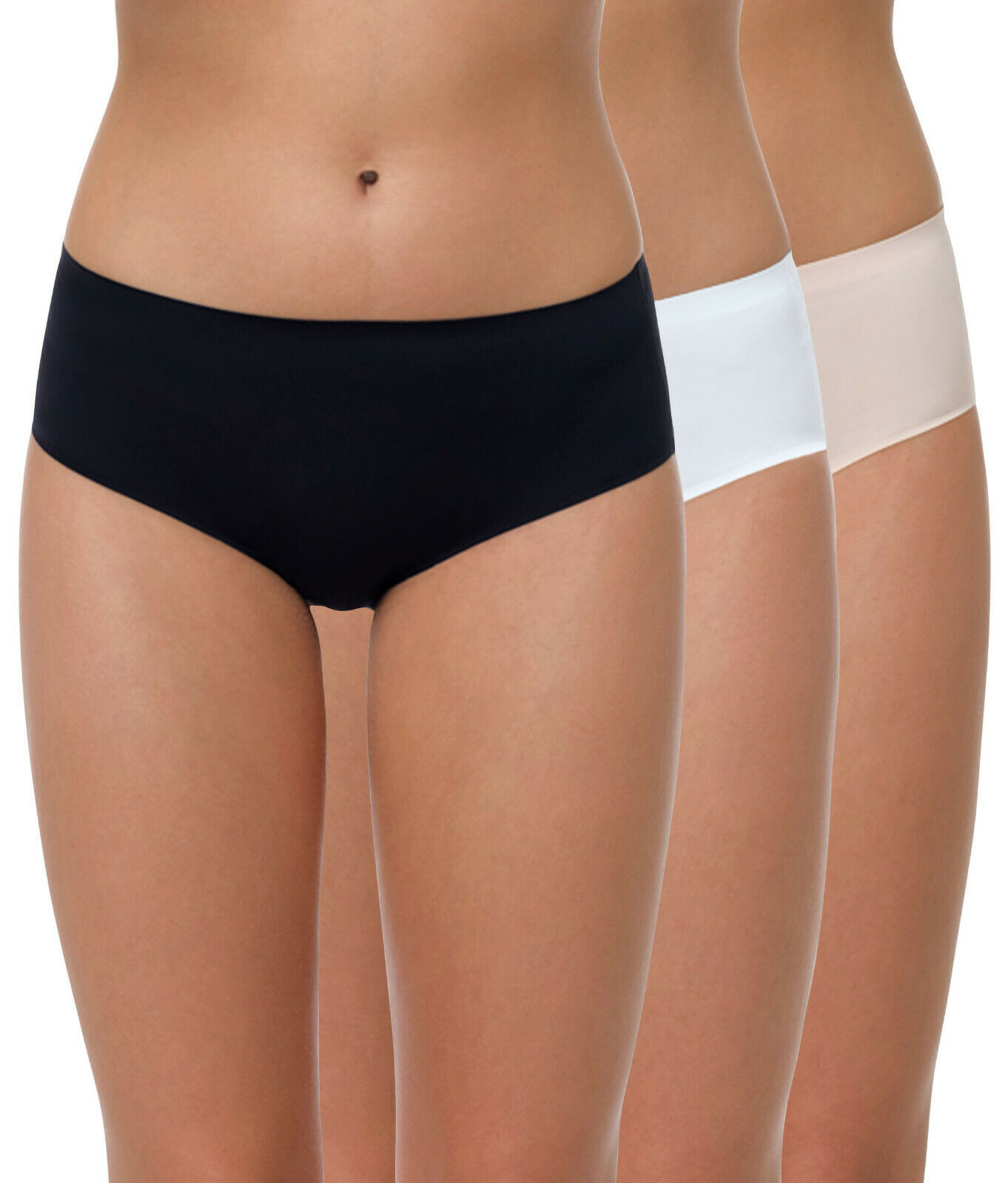 Damen Slips, Hüftslip, Nahtlose Slips, Mikrofaser Hipster ohne Nähte