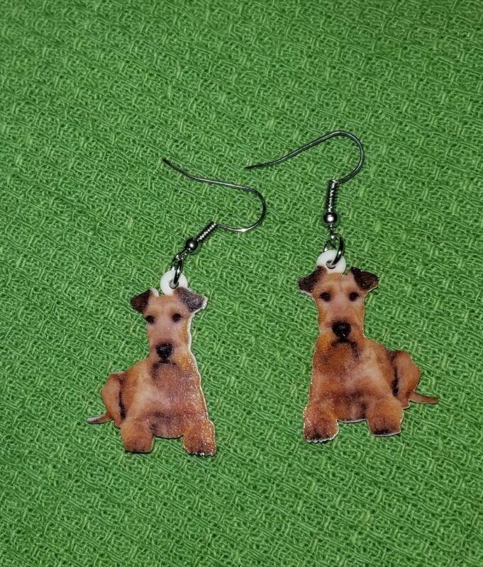 Irish Terrier Dog lightweight fun earrings  jewelry FREE SHIPPING By Mydogsocks