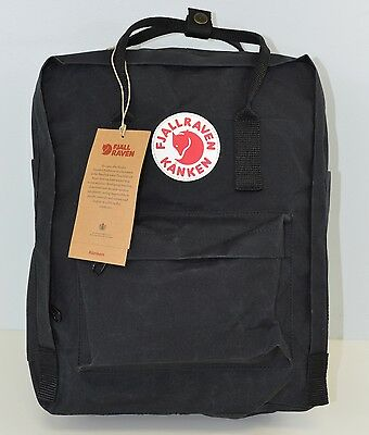 NEW FJALLRAVEN Kanken Classic Backpack School bag 23510 in Black 550