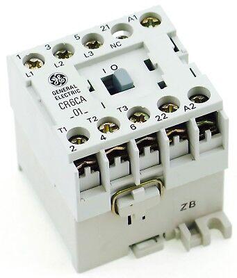 New Ge Miniature Din Rail Magnetic Contactor Cr6cab3b 220vac Coil Ca4-5-01-220