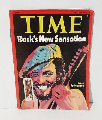 Vintage Time Life Rock's New Sensation Oct 27, 1975 Bruce Springsteen -