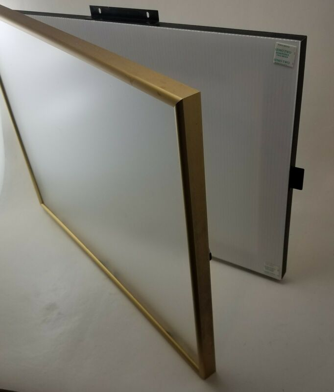 Swingframe Rapid Change Frame Poster Menu Picture Display Sign Holder (Brass)