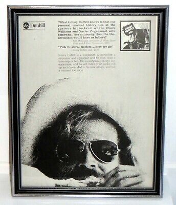 Jimmy Buffet A1A Album Framed Vintage Original 70s Print Ad