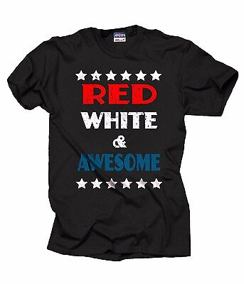 Patriotic T-shirt Red White And Awesome Cool USA  4th Of July T-shirt Merica - Awesome 4th Of July Shirts