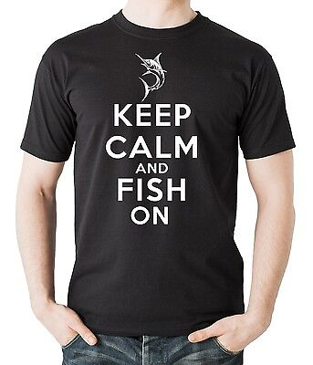 Fishing shirt Keep Calm and Fish on T-Shirt Gift For Fisherman Profession - Hobbies For Adults