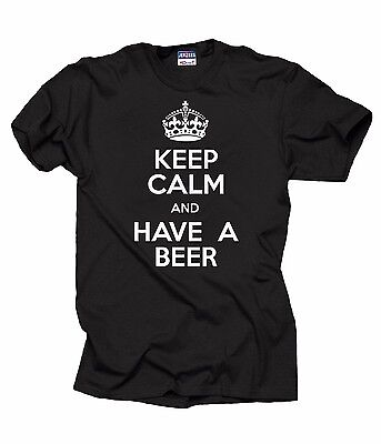 Keep Calm And Have A Beer T-Shirt Funny Alcohol Tee Pub Shirt Bartender Tee ()