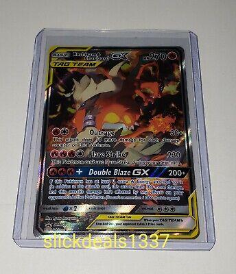 Reshiram and Charizard GX SM 201 Full Art Ultra Rare Pokemon Card Sun and Moon