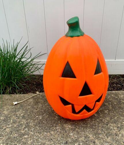 "Large 22"" Empire Foam Jack O Lantern Blow Mold Pumpkin Light Up Yard DECORATION"
