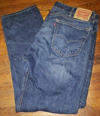 Mens Levis 505 Blue denim Jeans 38x32