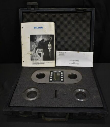 Dillon ED-2000 Plus 50,000 lbs Electronic Scale Dynamometer W/ Transmitter
