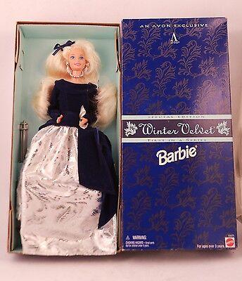 1995 Avon Winter Velvet Special Edition Barbie Doll NRFB