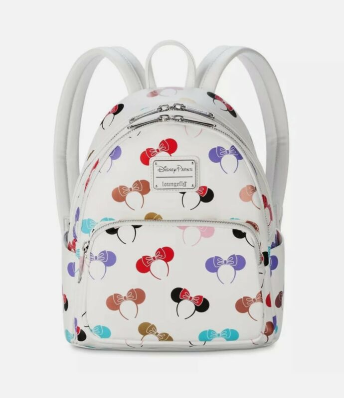 2021 Disney Parks Loungefly Minnie Mouse Ears Headband Ear Holder Mini Backpack