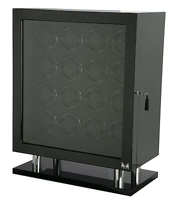VOLTA Automatic 16 Watch Winder Carbon Fiber Signature Series Box Display Case