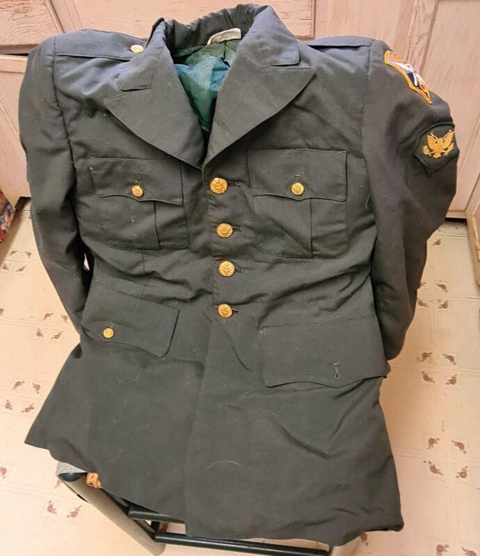 VIETNAM ARMY Dress Coat 8405-00-965-1611 & IntelligenceService Command Patch