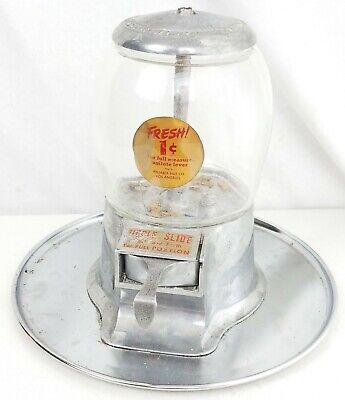 Vintage Reliable Nut vending machine 1 cent Original coin op peanut no key