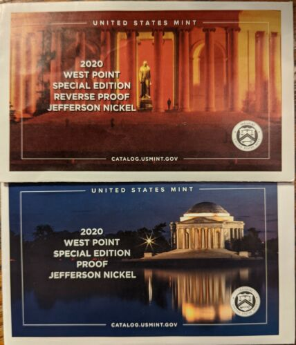 2020W Nickel Set PROOF And REVERSE PROOF - $45.00