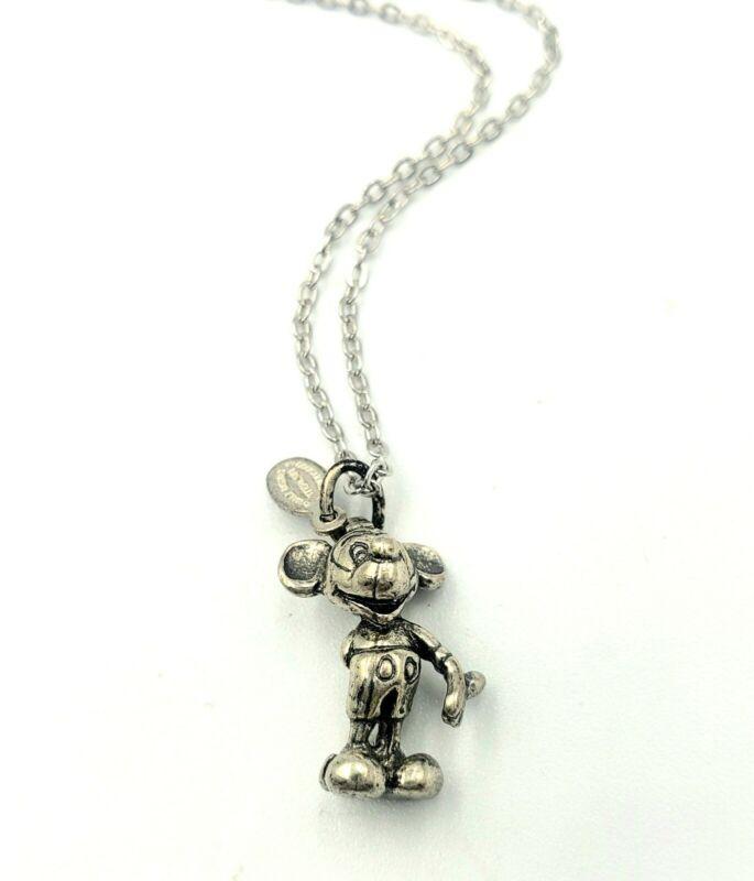 Vintage Mickey Mouse Sterling Silver Pendant Charm Disneyland Walt Disney