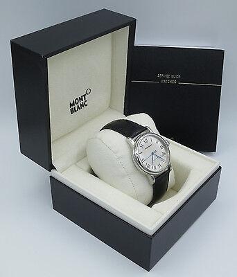 Montblanc Star Platinum Men's Watch 40mm # 36971 Serviced by Montblanc in March
