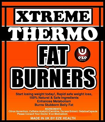 EXTREME THERMO FAT BURNERS FAST WEIGHT LOSS PILLS DIET SLIMMING TABLETS