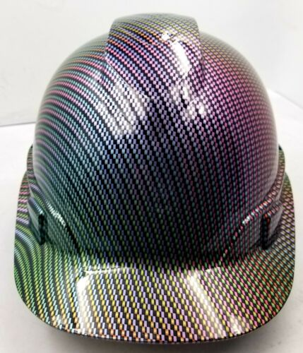 Hard Hat custom hydro dipped , OSHA approved NEO CHROME CARBON FIBER NEW SICK