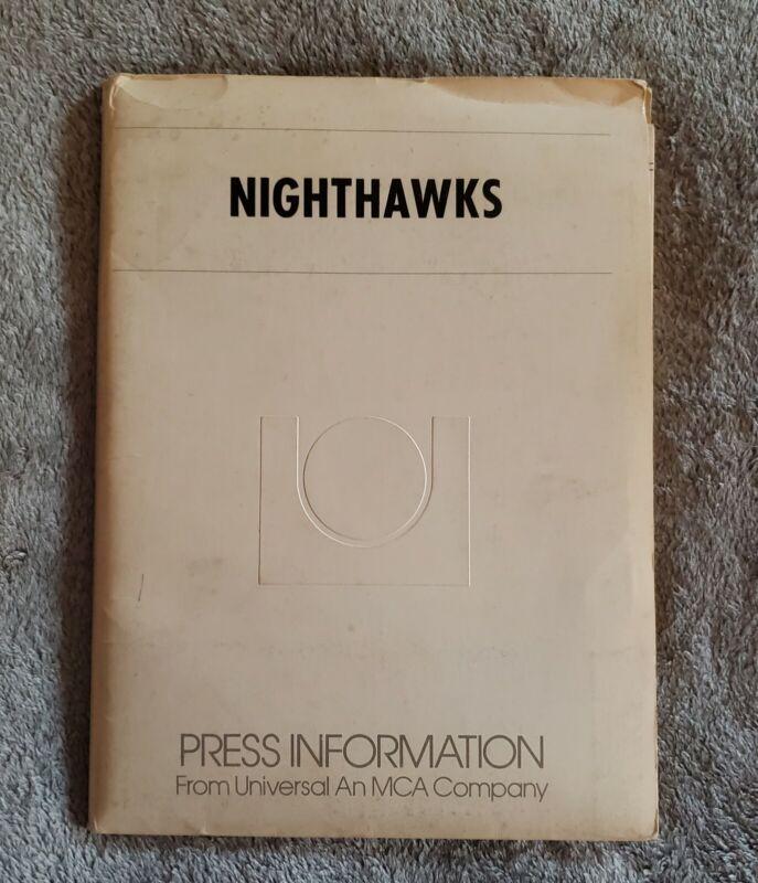"1981 ""NIGHTHAWKS"" Sylvester Stallone MOVIE PRESS KIT With (20) Photos In FOLDER"