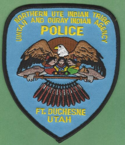 FORT DUCHESNE UTAH NORTHERN UTE TRIBAL POLICE SHOULDER PATCH