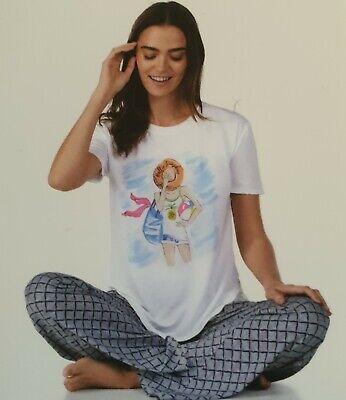 Jane and Bleecker 2 Piece PJ Set, Pyjama Sleepwear, Nightwear, Size Medium