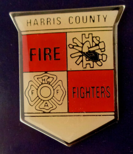 Harris County Texas FIRE FIGHTERS fire dept patch LAPEL PIN TX