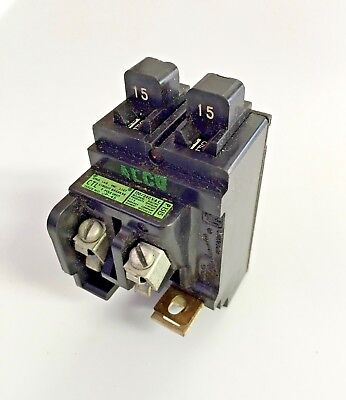 Pushmatic 1515 Amp Duplex Circuit Breakers P1515 Twin