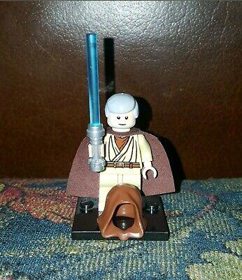 Authentic LEGO Star Wars Obi-Wan Kenobi Minifigure sw336 7965 10188 Jedi Master