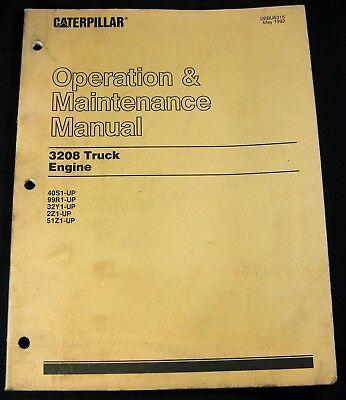 Cat Caterpillar 3208 Truck Engine Operation Maintenance Manual Book Sebu6315