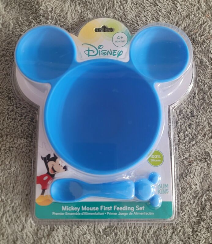 Disney Babies Mickey Mouse First Feeding Suction Bowl and Spoon by Bumkins