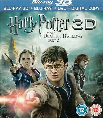 Harry Potter & The Deathly Hallows Part 2 NEW Region B 3D, Blu-Ray, Region 2 DVD