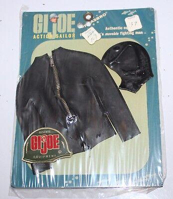 Vintage GI Joe Action Sailor Carded Scuba Wetsuit Jacket and Hood