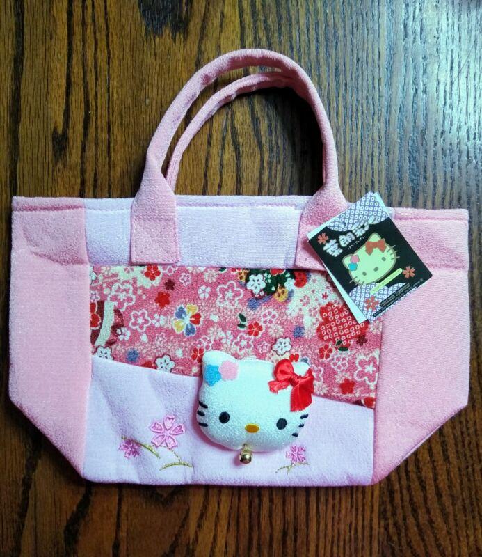 "Sanrio Hello Kitty Sakura Small Tote Bag 11"" x 6.75"" x 4"" Sold in Japan Only NWT"