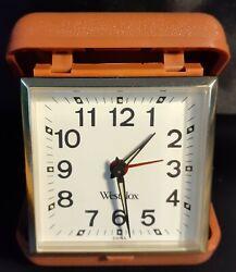 Vintage Westclox Travel Alarm Clock  **WORKS & LOOKS GREAT**
