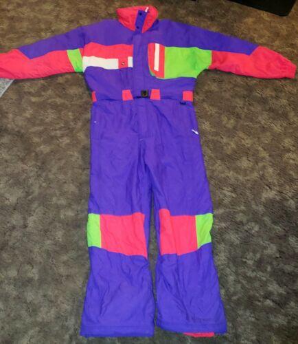 Vintage 80s INSIDE EDGE Men's XL One Piece Ski Suit Snow Bib
