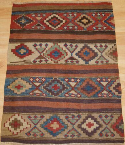Antique Caucasian Or Shahsavan Kilim Panel, Circa 1900..