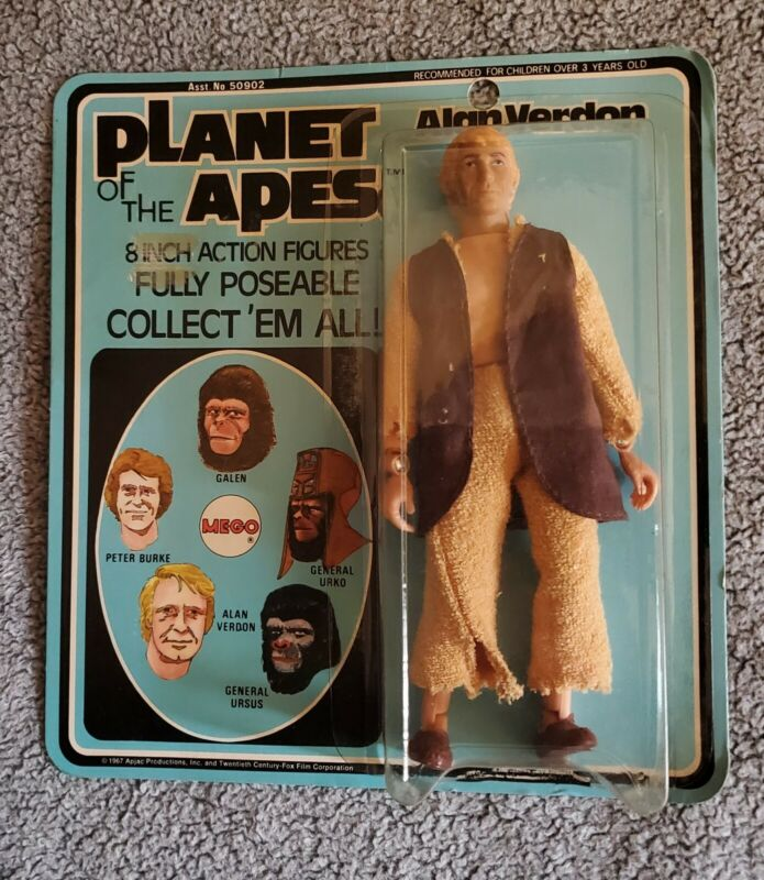 """1974 """"PLANET OF THE APES"""" Original MEGO """"VERDON"""" 8 Inch FIGURE Mint On The CARD"""