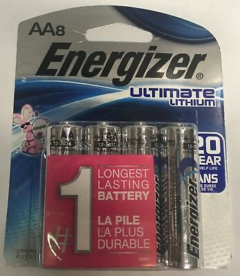 Used, Pack of 8 Energizer AA Ultimate Lithium Batteries Dated DEC-2037 for sale  Shipping to Canada
