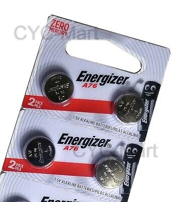 Energizer LR44  AG13  A76 Batteries x 4 pcs, Original Packin