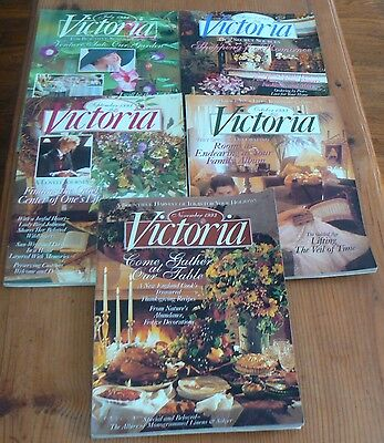 VICTORIA Magazine -5 1993 Back Issues-July, August, September, October, November