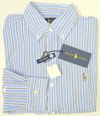 NWT $98 Polo Ralph Lauren LS KNIT Mesh Oxford Style Shirt Mens Blue   XL NEW Mesh-oxford