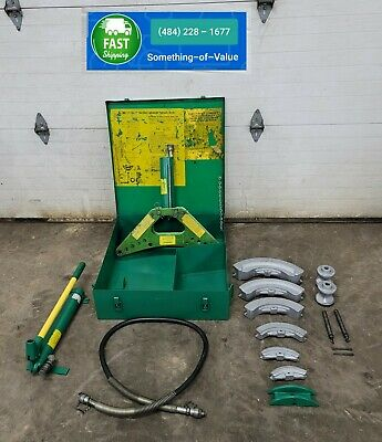 Greenlee 880 Hydraulic Pipe Bender 12 - 2 Rigid 755 Hand Pump Nice