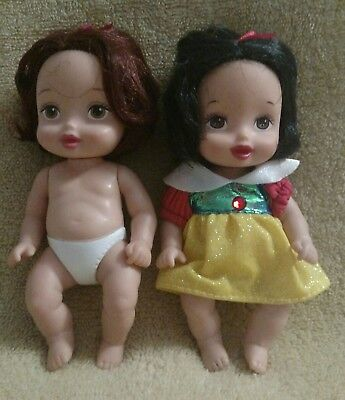 Disney Enchanted Nursery Snow White And Belle Baby Dolls - Belle And Snow White
