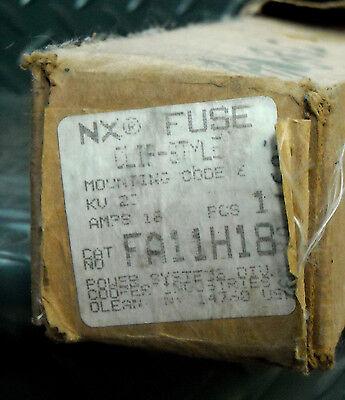 New Cooper Nx Fuse Fa11h18 23 Kv 18 Amp 50 Ka Sym - Clip Style Mounting Code 6