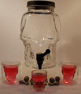Halloween Getranke (Getränkespender 3 Liter - Totenkopf,Halloween,Gruselparty,Kinderparty)
