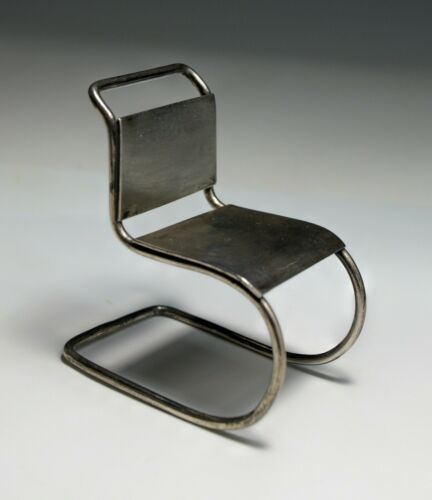 Miniature Van Der Rohe Cantilever Chair MCM Sterling Silver Modernism ACME 1990