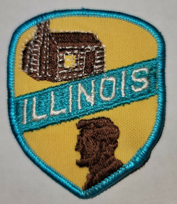 """Illinols State Patch - Vintage Old Stock 3"""" X 2"""" Used."""