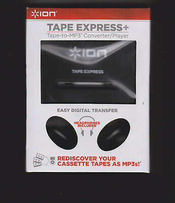 ION TAPE EXPRESS+ CASSETTE TAPE-TO-MP3 ANALOG TO DiGiTAL CONVERTER / PLAYER NEW for sale  Shipping to India